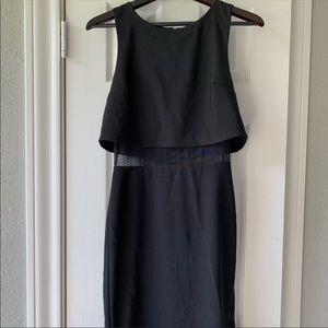 Forever 21 - Black sheer Midi dress